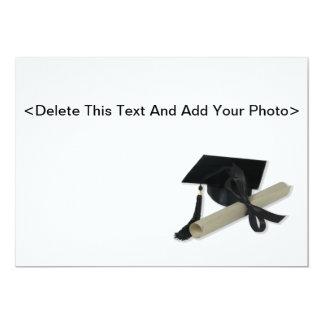 Diploma and Graduation Cap ( Mortar Board ) Invite
