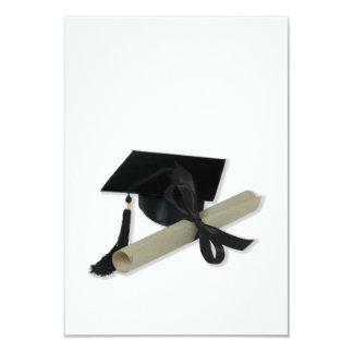 Diploma and Graduation Cap ( Mortar Board ) 3.5x5 Paper Invitation Card