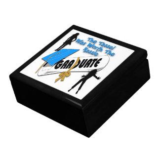 Diploma Blue Grad Cap (Female) Gift Box/Trinket Bo Keepsake Box