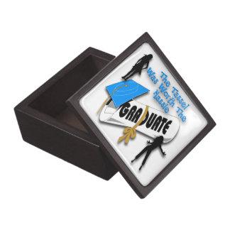 Diploma Blue Grad Cap (Female) Premium Gift Box