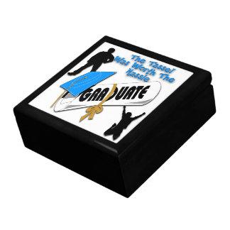 Diploma Blue Grad Cap (Male) Gift Box/Trinket Box