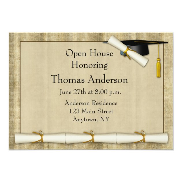 Diploma Border Graduation Invitation
