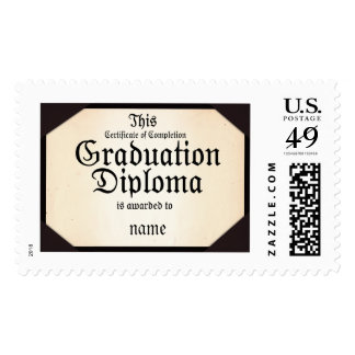 ¡Diploma de la graduación - añada el nombre del Timbres Postales