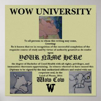 Diploma de la universidad del wow - poster
