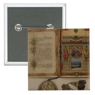 Diploma de príncipe que invierte a Otto von Bismar Pin Cuadrado