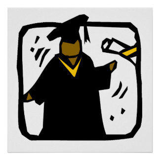 Diploma de recepción graduado (1) póster