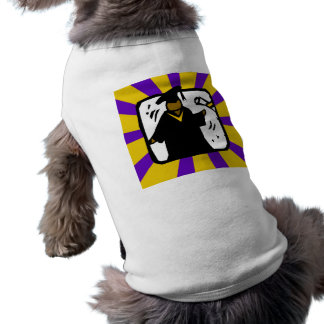Diploma de recepción graduado 1 púrpura y oro ropa para mascota