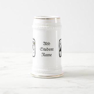 Diploma de recepción graduado (1) jarra de cerveza
