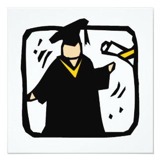 Diploma de recepción graduado (2) invitaciones personales