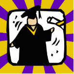 Diploma de recepción graduado (2) púrpura y oro escultura fotográfica