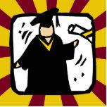 Diploma de recepción graduado (2) rojo y oro escultura fotográfica