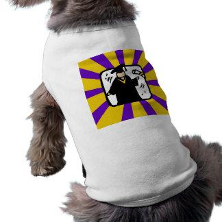 Diploma de recepción graduado - púrpura y oro camiseta sin mangas para perro