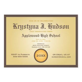 Diploma - Degree Graduation Party Invitation