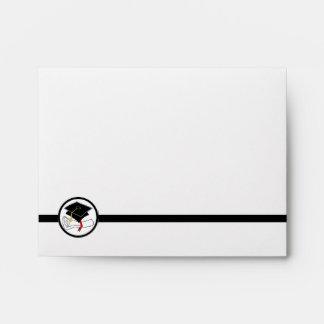 Diploma del casquillo del sobre de la tarjeta de n