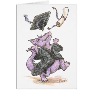 """""""Diploma Dragon"""" Greeting and Note Cards"""