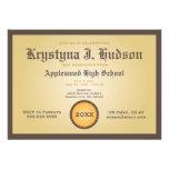 Diploma - invitación de la fiesta de graduación de