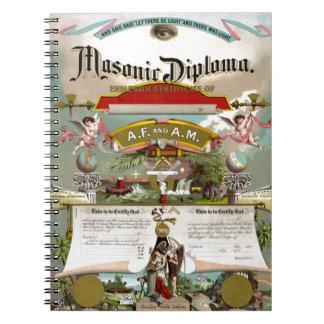 Diploma masónico circa 1890 cuadernos