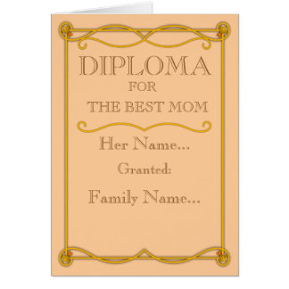 Diploma Mother's Day Greeting Card