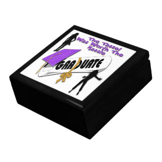 Diploma Purple Grad Cap (Female) Gift Box/Trinket