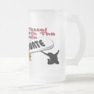 Diploma Red Grad Cap (Male) Frosted Mugs