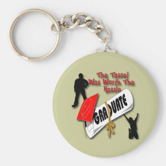 Diploma Red Grad Cap (Male) Key Chains
