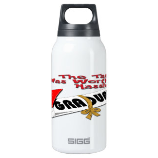Diploma Red Grad Cap (Male) 10 Oz Insulated SIGG Thermos Water Bottle