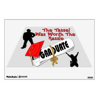 Diploma Red Grad Cap (Male) Wall Decal