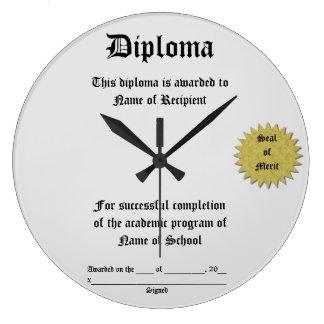 Diploma Reloj Redondo Grande