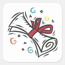 Diploma Square Sticker