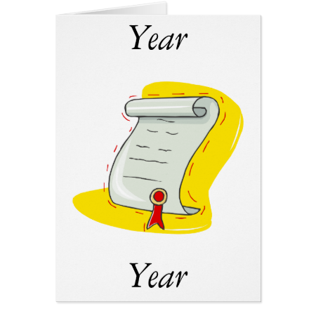 Diploma Stationery Note Card