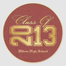 Diploma Themed Red & Gold Class of 2013 Graduation