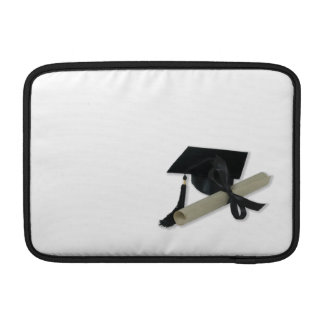 Diploma y casquillo de la graduación (tablero del  funda para macbook air