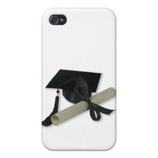 Diploma y casquillo de la graduación (tablero del  iPhone 4/4S funda