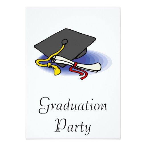 Diploma y casquillo invitación 12,7 x 17,8 cm