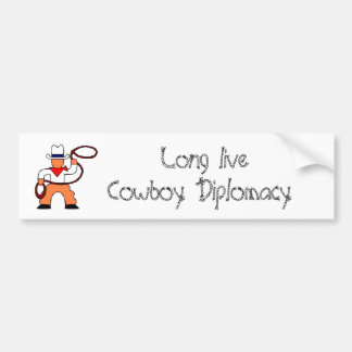 diplomacy bumper sticker