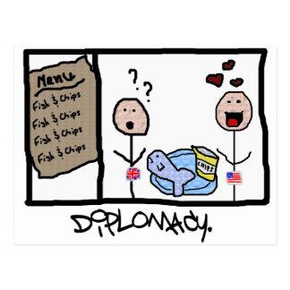 Diplomacy: Fish & Chips Postcard