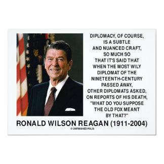 Diplomacy Subtle Nuanced Craft Diplomat Reagan Card
