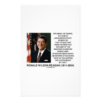Diplomacy Subtle Nuanced Craft Diplomat Reagan Stationery
