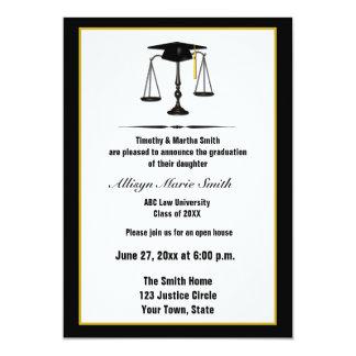 "Diplomado de colegio de abogados Annoucement Invitación 5"" X 7"""