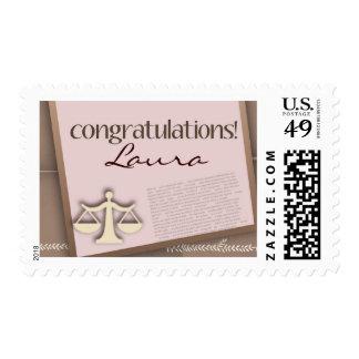 Diplomado de colegio de abogados de la enhorabuena sello