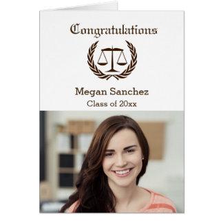 Diplomado de colegio de abogados de la enhorabuena tarjeta de felicitación