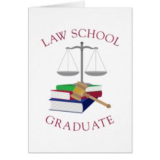 Diplomado de colegio de abogados tarjeta de felicitación
