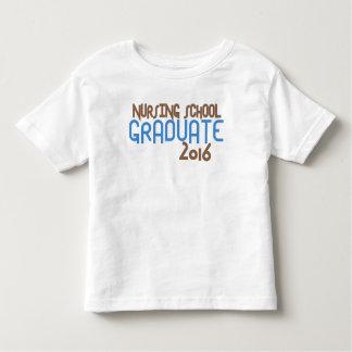 Diplomado de escuela de enfermería enrrollado 2016 playera de bebé