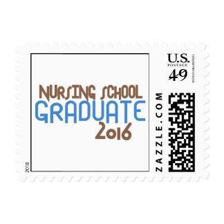 Diplomado de escuela de enfermería enrrollado 2016 sellos postales