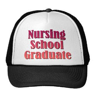 Diplomado de escuela de enfermería gorro de camionero
