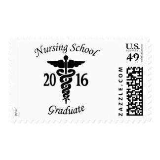 Diplomado de escuela de enfermería timbre postal