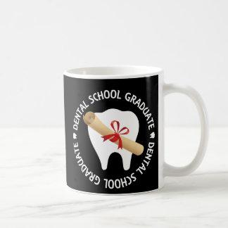 Diplomado de escuela dental taza clásica