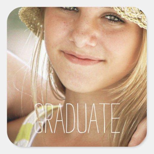 Diplomado de High School secundaria moderno de los Pegatinas Cuadradas