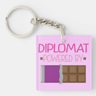Diplomat Chocolate Gift for Her Keychain