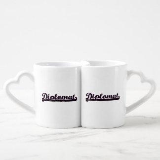 Diplomat Classic Job Design Couples' Coffee Mug Set